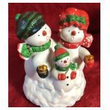 Snowmen Family Music Box
