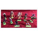 Lot of Metal Base Plastic Body Figurines