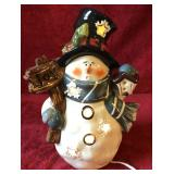 Lighted Snowman Figurine