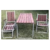 Lawn Chairs and Picnic Table