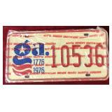 GA License Plate