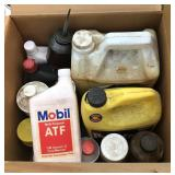 Lot of Lubricants-Antifreeze-Oil Can