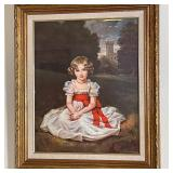 SIGNED PORTRAIT OF YOUNG GIRL
