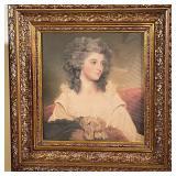 ORNATELY FRAMED PORTRAIT OF WOMAN