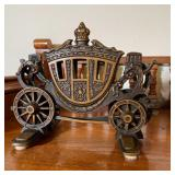 BRONZE BOOKENDS OF STAGECOACH