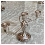 STERLING CANDLABRA 1090 GRAMS WEIGHTED