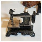 ANTIQUE SALESMAN SAMPLE GERMAN SEWING MACHINE