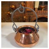 COPPER TEA OT WITH CAST HANDLE