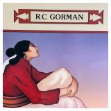 "RC GORMAN PRINT CHILI PEPPERS 38.5""x35.5"""