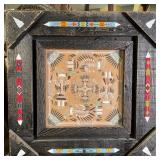 """NATIVE AMERICAN SAND PAINTING 22.25""""x22.25"""""""