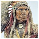 C.A. PARDELL INDIAN CHIEF BRONZE STATUE