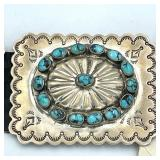 OLD PAWN NAVAJO CONCHO BELT STERLING
