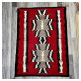 NICE RED NATIVE AMERICAN WOVEN RUG 40x30