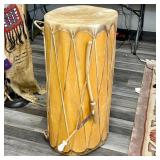 NATIVE AMERICAN DRUM 37 IN TALL