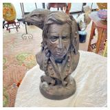 SIGNED METAL CHIEF BUST