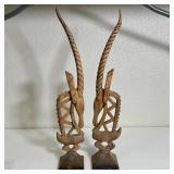 PAIR OF STATUES 24x5