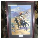 AN INDIAN TRAPPER BY FREDERIC REMINGTON PRINT