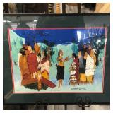 """BY VARNELL """"THE PEOPLE"""" PRINT 28""""x22.5"""""""
