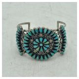HANDCRAFTED STERLING SILVER TURQUOISE CUFF
