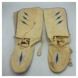 NATIVE AMERICAN BEADED BOOTS