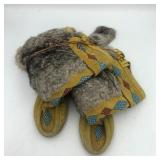 NATIVE AMERICAN FUR BEADED BOOTS