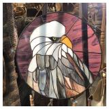 """STAINED GLASS EAGLE 14"""" DIAMETER"""