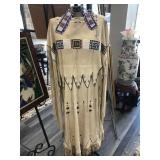 BEADED LEATHER NATIVE AMERICAN WEDDING DRESS