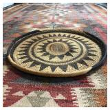 """LARGE HAND WOVEN TRAY 19.5"""" DIAMETER"""