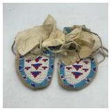 HEAVILY BEADED MOCCASINS