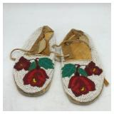 HEAVILY BEADED ROSE MOCCASINS