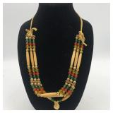"""BEADED NECKLACE 24"""""""