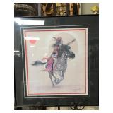 NATIVE AMERICAN ON HORSE PRINT BY JOHNNY TIGER