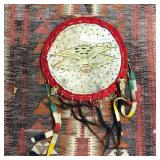 """24"""" SIOUX RAWHIDE PAINTED SHIELD"""