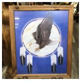 """EAGLE WITH FEATHERS PRINT 18.5""""x22.5"""""""