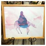 NATIVE AMERICAN ON HORSE PRINT BY MADDEN