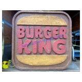 VINTAGE 4ft. BURGER KING SIGN