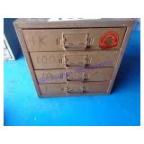 4 DRAWER CABINET WITH ELECTRONIC PARTS