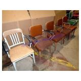 LOT OF (7) VINTAGE STEEL OFFICE CHAIRS