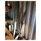 Shovels and fence post