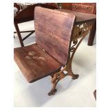 Antique Cast Iron Desk