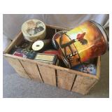 Crate Load of Metal Tins