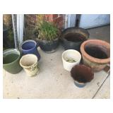 Lot of Eight Planters