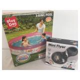 Three Ring Pool & Mini Flyer Lot - New in the Box