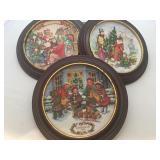 Three Avon Chirstmas Plates