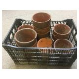 Crate Lot of Turpentine Pots