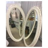 Large Oval Wall Mirror Lot
