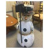 Five Piece Metal Snowman