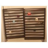 Pair of Match Book Display Shelves