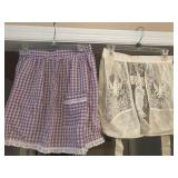 Lot of 9 Vintage Aprons - see pics
