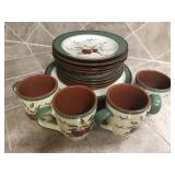 16 pc. Apple Orchard Dish Set by Home Interiors
